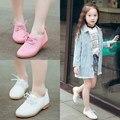 Детская кожаная обувь для девочек  Мягкая Повседневная обувь в британском стиле для мальчиков и девочек  2019
