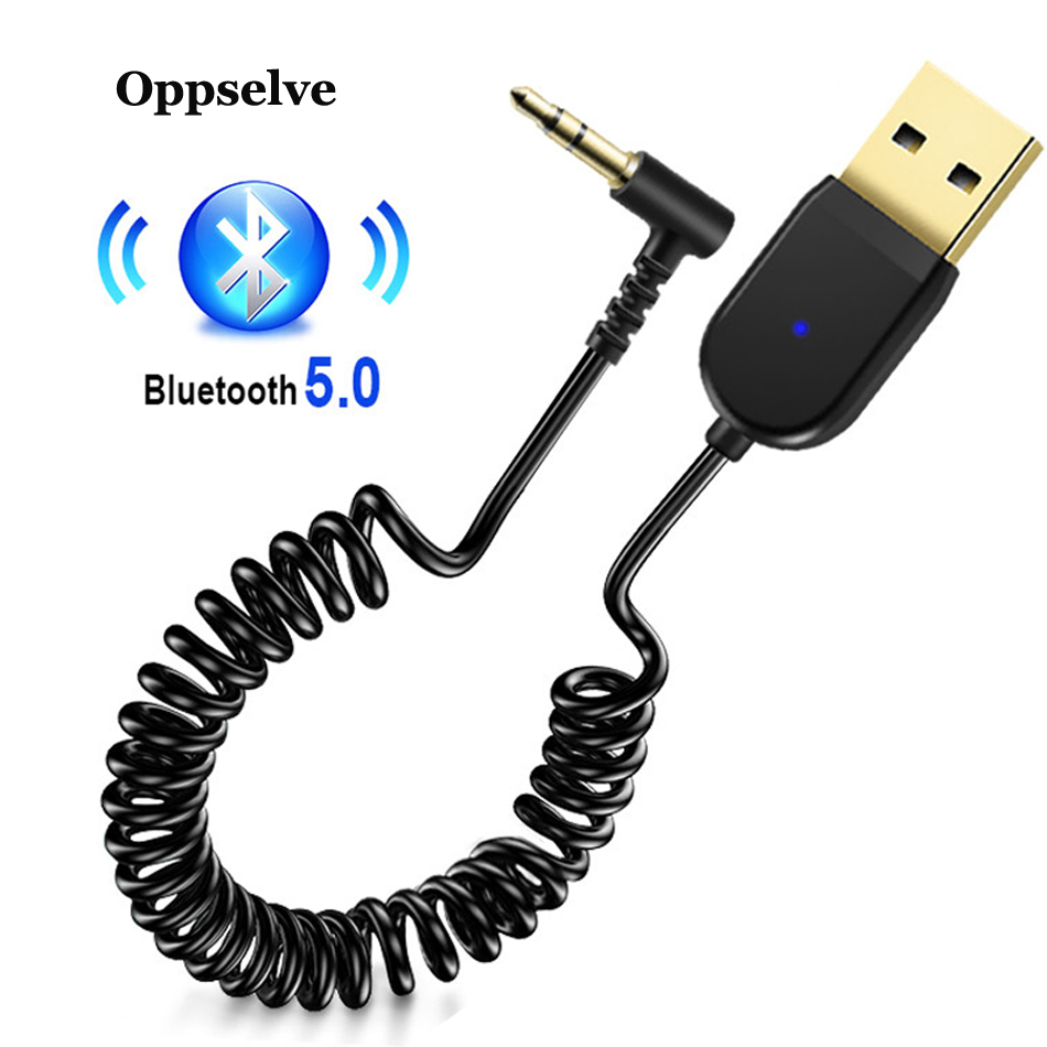 USB Bluetooth Adapter Dongle Cable For Car 3.5mm Jack Aux Bluetooth 5.0 Receiver Speaker Headphones Audio Music Transmitter