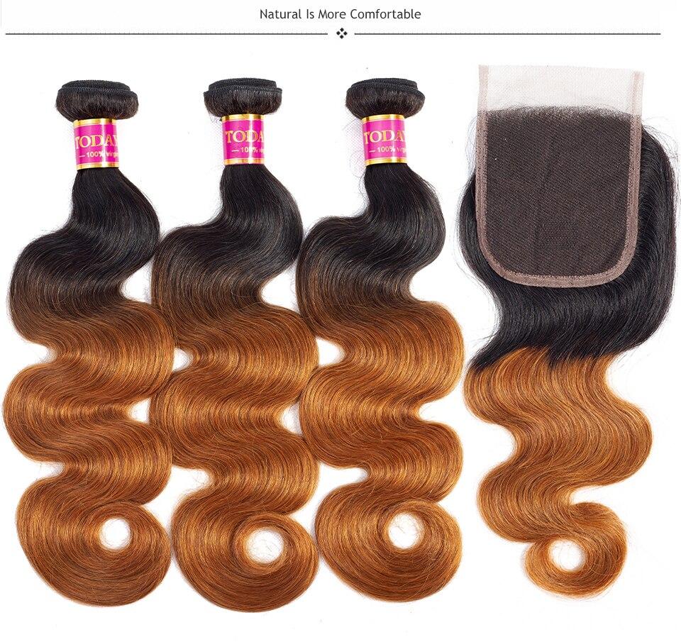 H46369aac4f704a84b6bf9d182313de58A TODAY ONLY Body Wave Bundles With Closure Brazilian Hair Weave Bundles With Closure Remy Ombre Bundles With Closure 3 Bundles