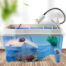 Small Large Turtle Tank Amphibious  with Drying Platform To Raise  Special Cylinder Brazilian Tortoise