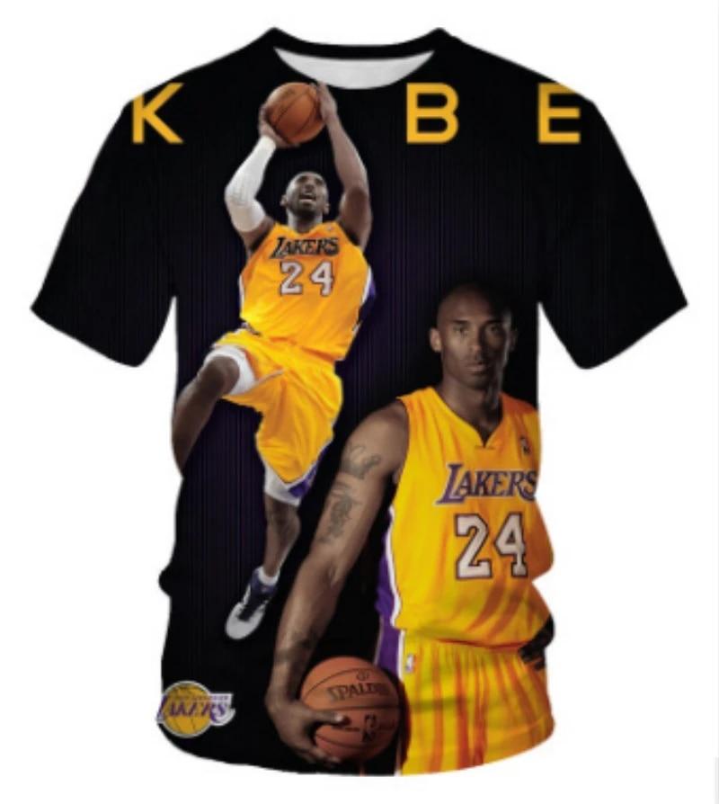 New 3D Printed Kobe Bryant Men Women Children T-shirt Harajuku Fashion Streetwear Tops Basketball Player Black Mamba Casual Tees