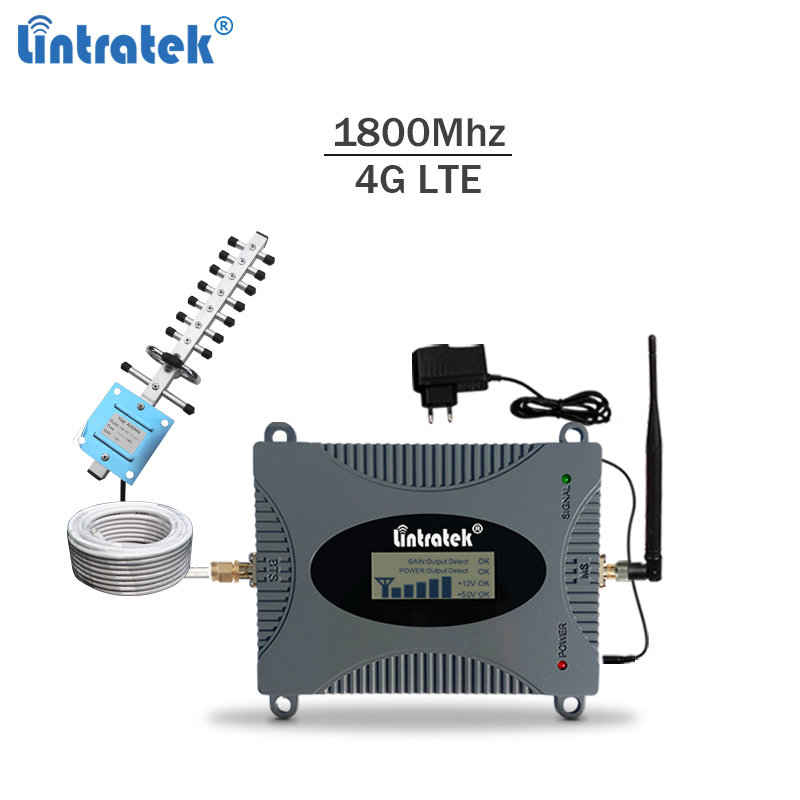 Lintratek Signal Repeater 4G 1800Mhz LTE Booster GSM 1800 Ampli 4G Signal Booster Band 3 DCS Amplifier Full Kit NOT GSM 900Mhz