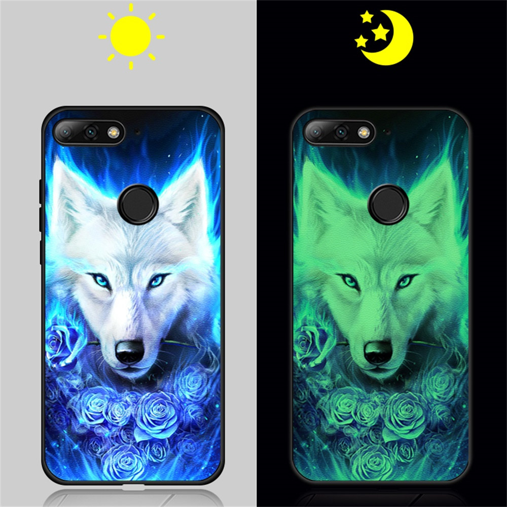 Phone <font><b>Case</b></font> Luminous For <font><b>Huawei</b></font> <font><b>Y5</b></font> Y6 Y7 Prime <font><b>2018</b></font> Y7 Pro <font><b>Case</b></font> <font><b>Leather</b></font> Cover For <font><b>Huawei</b></font> Honor 7A Pro <font><b>Y5</b></font> 2019 Honor 8S Glow Cover image