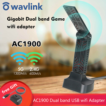 Wavlink AC1900 Dual Band USB 3.0 Adapter 5Ghz 1900mbps Wifi Antenna Dongle 2.4G 802.11AC wi-fi receiver Wireless Network Adapter