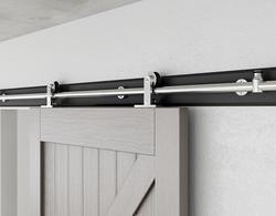 DIYHD stainless steel top mount roller sliding barn door hardware french cabinet barn door sliding track kit