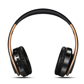 New Arrival !! Shinning Gold Colors Bluetooth Headphones Wireless Stereo Headsets Earbuds With Mic /TF Card 4