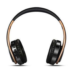 Image 4 - ¡Recién llegado! Auriculares Bluetooth en color oro brillante, auriculares inalámbricos estéreo con micrófono y tarjeta TF