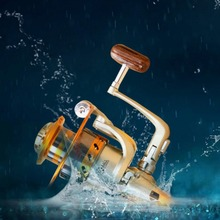 EF500-7000 Waterproof Baitcasting Reel 12BB Spinning Fishing Reel Carbon Fiber Drag Fishing Tackle with Metal Rocker Arm Hot