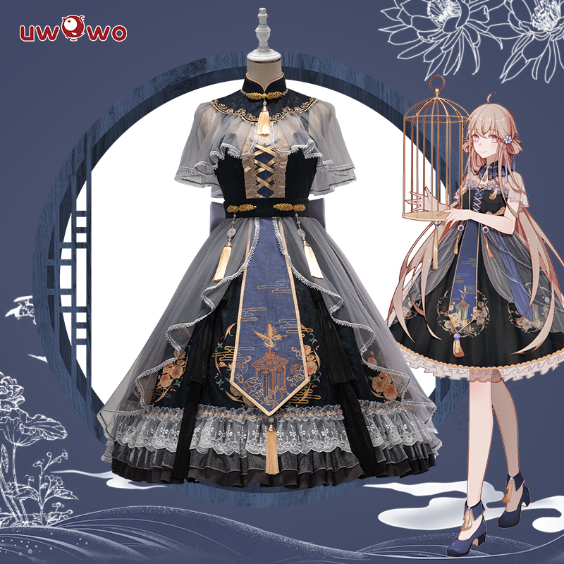 Uwowo Lolita Original Design Misty Garden Chinoiserie Lolita Dress Cosplay Costume