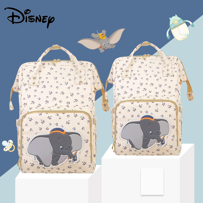 Disney Beige Cartoon Dumbo USB Diaper Bag Backpack Waterproof Maternity/Nappy Bag For Mom Baby Care Mummy Handbags 2020 Luxury