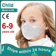 Kid FFP2 Mascarillas KN95 Children Masks 6-9 Years Old Boys Girls Mouth Face Mask Respirator Protective Mask Masques Enfant