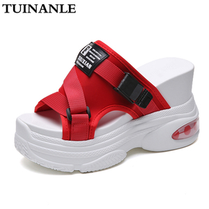TUINANLE Platform Slippers Women 2020 Summer Woman White Wedge Open Toe Shoes Female Water Flip Flop Solid Slides Zapatos Mujer