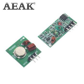 1 Lot= 50pair=100pcs RF wireless receiver module & transmitter module board Ordinary super- regeneration 433MHZ DC5V (ASK /OOK) - DISCOUNT ITEM  11% OFF All Category