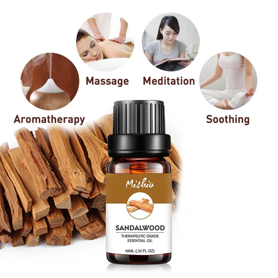 Mishiu 100% Pure Essential Oil For Aromatherapy Sandalwood Vanilla Myrrh Frankincense Cypress Clove Vetiver Massage Oil 10ML