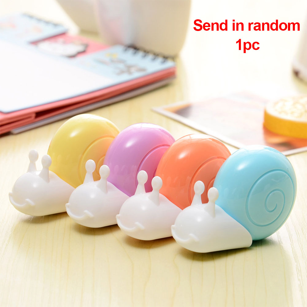Mini Student Supplies Snail Shape Students Use Practical Portable Stationery Eraser School Supplies Sticker Correction Tape