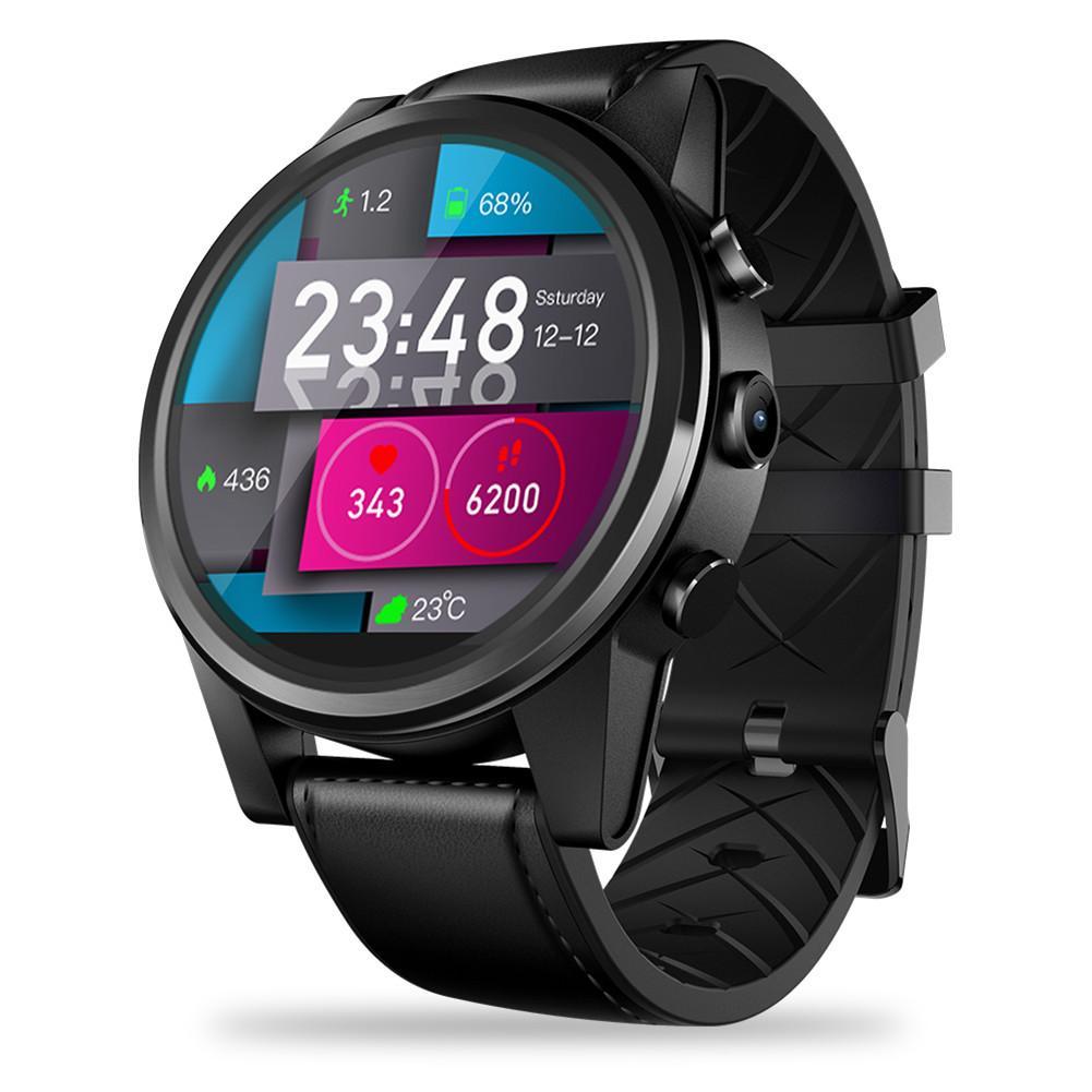 Pour Zeblaze THOR 4 PRO 4G SmartWatch 1.6 pouces affichage en cristal GPS/GLONASS Quad Core 16GB hybride bracelets en cuir montre intelligente