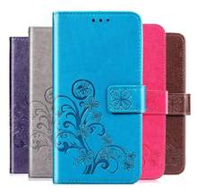 Luxury Embossed 3D Flower Case for Doogee X9 Mini X9 Pro PU Leather Wallet Flip Phone Case Bag Full Body TPU Protector Cover(China)