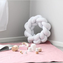 Knot cushion pillow baby sleep crib bumpers plush toys  twist Ball braided long knot protector newborns