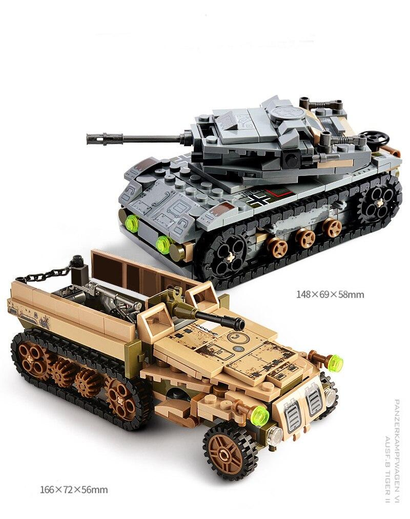 1061PCS Tank Building Blocks Toys Mini figures Vehicle Aircraft Boy Educational Block Military Compatible LegoINGlys Bricks (7)