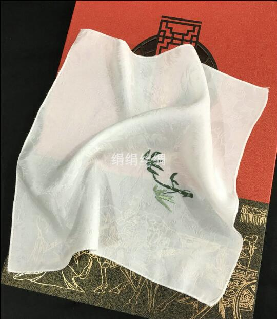 Embroidered Handkerchief Silk 26*26cm
