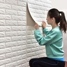 Waterproof Brick Wallpaper Home Decor 3D Self Adhesive Foam DIY Background Wall Sticker For Bedroom Living Room Kids Room