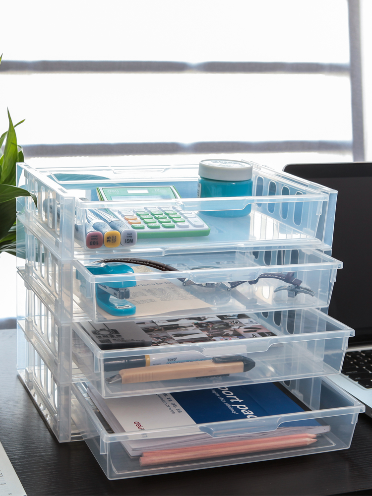 שולחן קובץ ארגונית שילוב אחסון מתלה משרד אביזרי A5/A6 מגזין נייר מגש 2 יח