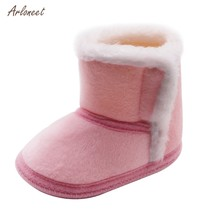 2019 Plush Winter Kids snow boots thick Child cotton shoes warm plush soft bottom baby girls boots winter boot for baby(China)
