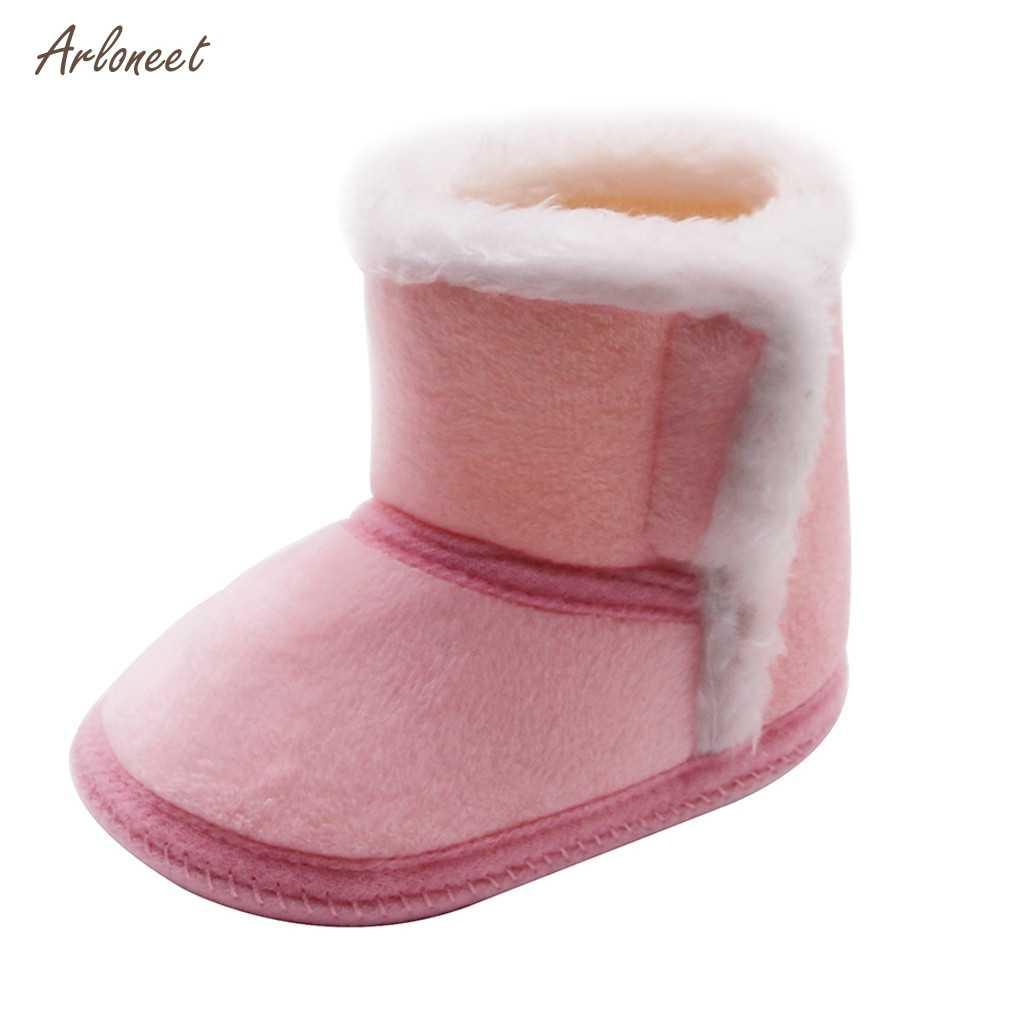 Botas de invierno de felpa 2019 para niños botas de nieve gruesas zapatos de algodón para niños botas de invierno de felpa suave para niñas bebé
