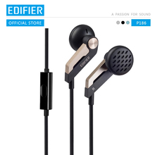 EDIFIER P186 In ear Earphone High end Acoustic Configuration Hifi Headset Noise Cancelling Earphone with mic for PC laptop