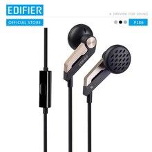 EDIFIER P186 kulak içi kulaklık High end akustik yapılandırma Hifi kulaklık gürültü iptal kulaklık PC için mic ile dizüstü bilgisayar