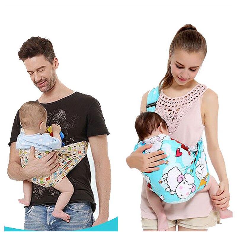 Women Mens Single Shoulder Infant Baby Sling Wrap Carrier Backpack Toddle Baby Travel Warp Sling Carrier Hipseat 0~36 M