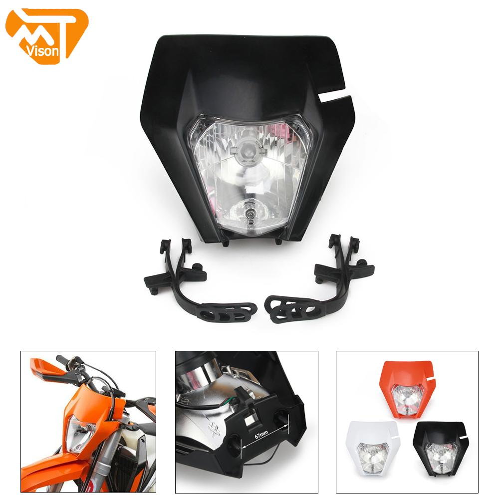 2017 Universal Motorcycle Headlight Head Lamp Light Headlamps For KTM EXC SX SXF XC XCF EXCF XCW SMR  125 150 250 350 450 530