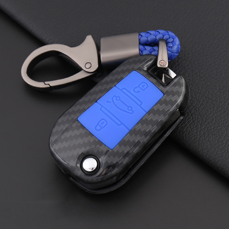 For <font><b>Peugeot</b></font> 301 308 308S 408 2008 3008 4008 <font><b>5008</b></font> Car Styling Holder High quality Carbon fiber Silicone Car <font><b>Key</b></font> Case Full <font><b>Cover</b></font> image