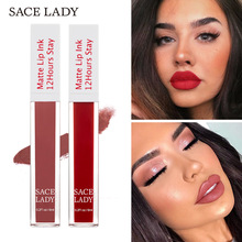 SACE LADY Matte Lip Glaze waterproof non-sticking cup lasting 6 ml maquillajes para mujer  matte lipstick set  Easy to Wear