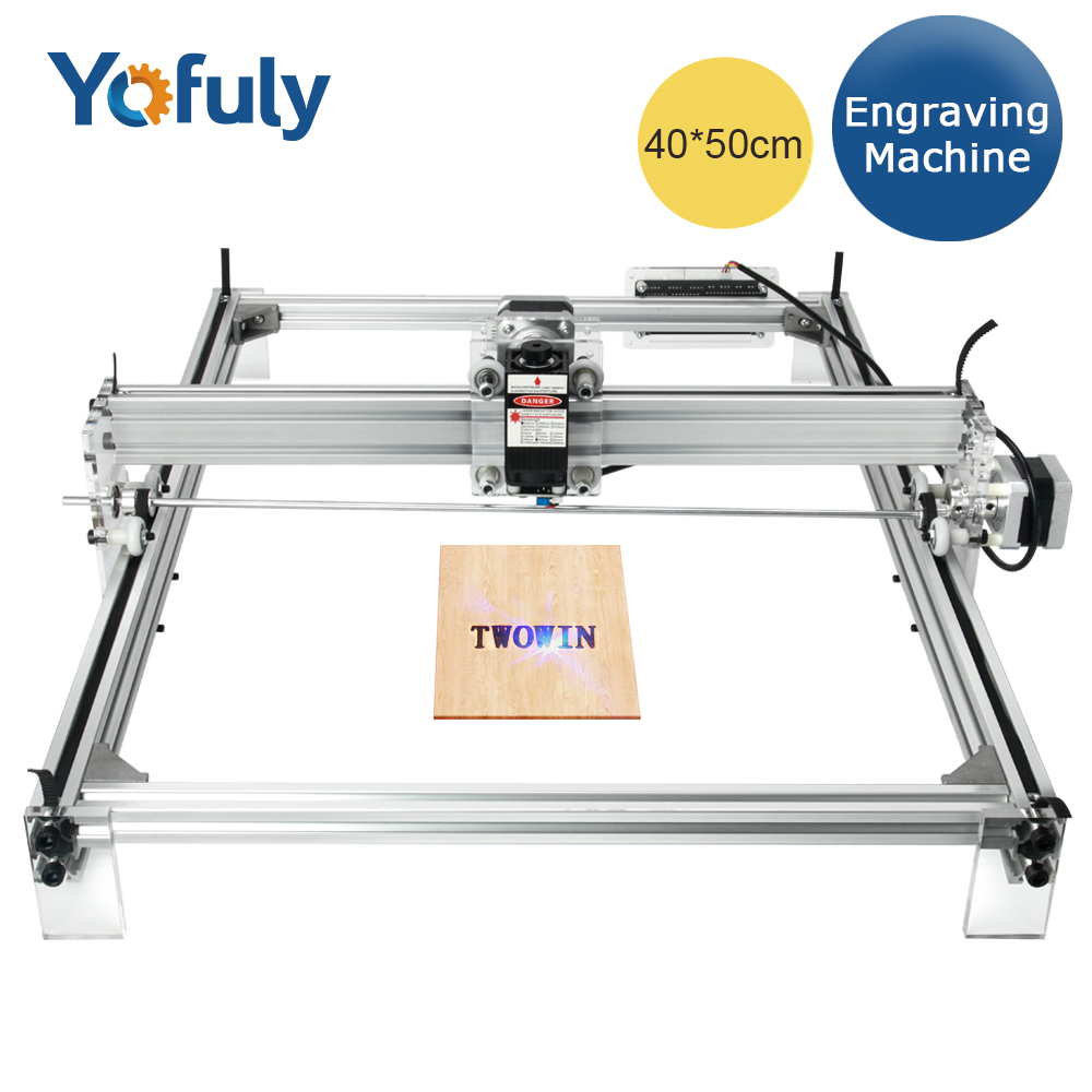DIY 7W/10W  40*50 Cm Laser Engraving Machine Desktop Wood Router/Cutter/Printer/ CNC Laser Machine,working Area 40cmx50cm