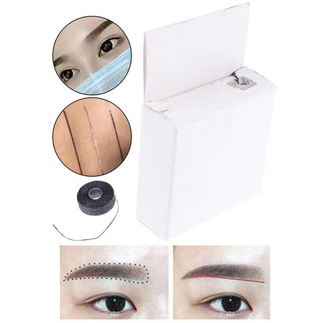Mapping pre-ink string For Microblading eyebow Dyeing Semi Measuring Make Liners Permanent Thread Tool Positioning Eyebrow X9T4
