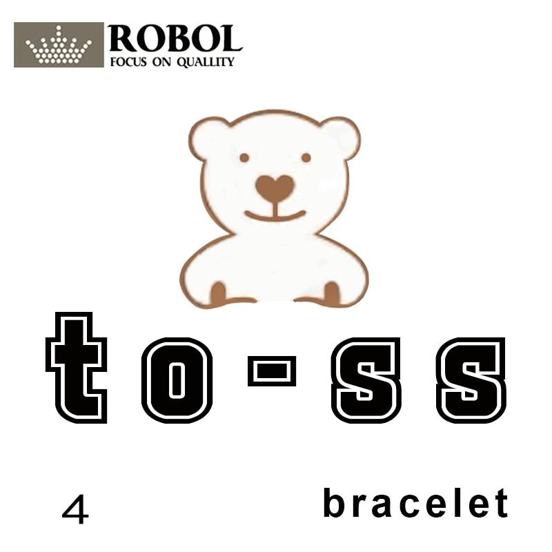 Toss Bear Sterling Silver Copy Jewelry Spanish Bear Version Jewelry Women's Bracelet Custom Bear Gem Material Link Wholesale