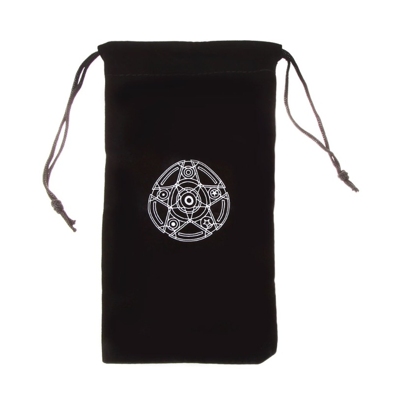 Tarot Card Storage Bag Velvet Pentagram Toy Home Mini Drawstring Package For Playing Cards Dice Jewelry Storage Box
