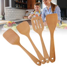 Spoons Cookware Utensils Scoops Spatula Cooking-Tool Wooden Bamboo Non-Stick Kitchen