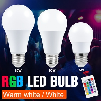 RGBWW Color Changing Lamp LED Spotlight E27 RGB Smart Control Dimmable Bulb 5W 10W 15W Spot Light LED RGBW Party Lampada SMD5050 hotook led bulbs lamp e27 lampada light 3w 5w 10w rgb dimmable lighting bombillas lamparas ampoule spotlight ball remote control