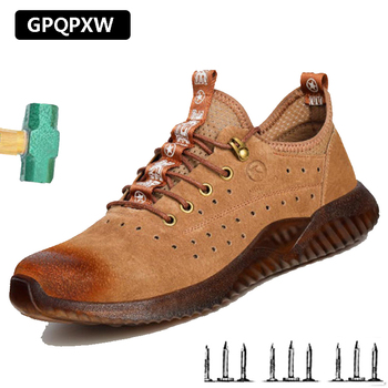 Anti-smashing Anti Puncture Steel Toe Cap Safety Shoes Male Lightweight Work Shoes Wear-resistant Deodorant Men's Winter Boots