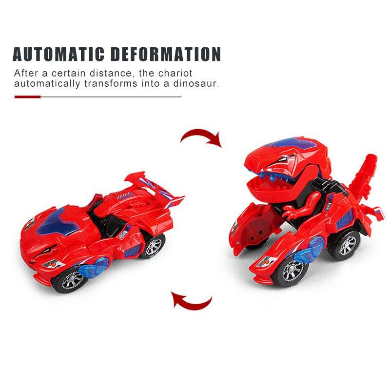 Deformation LED Car Kids Dinosaur Toys Play Vehicles With Light Flashing Music YH-17