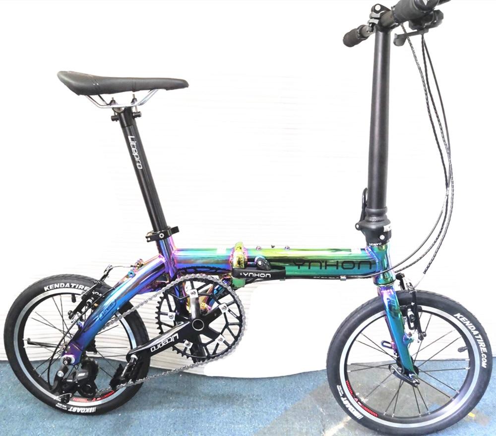 412 14 16inch Ynhon Sepeda Lipat Aluminun Paduan Anak Anak Sepeda Mini Modifikasi Kecepatan Tunggal Di Luar Speed Sepeda Aliexpress