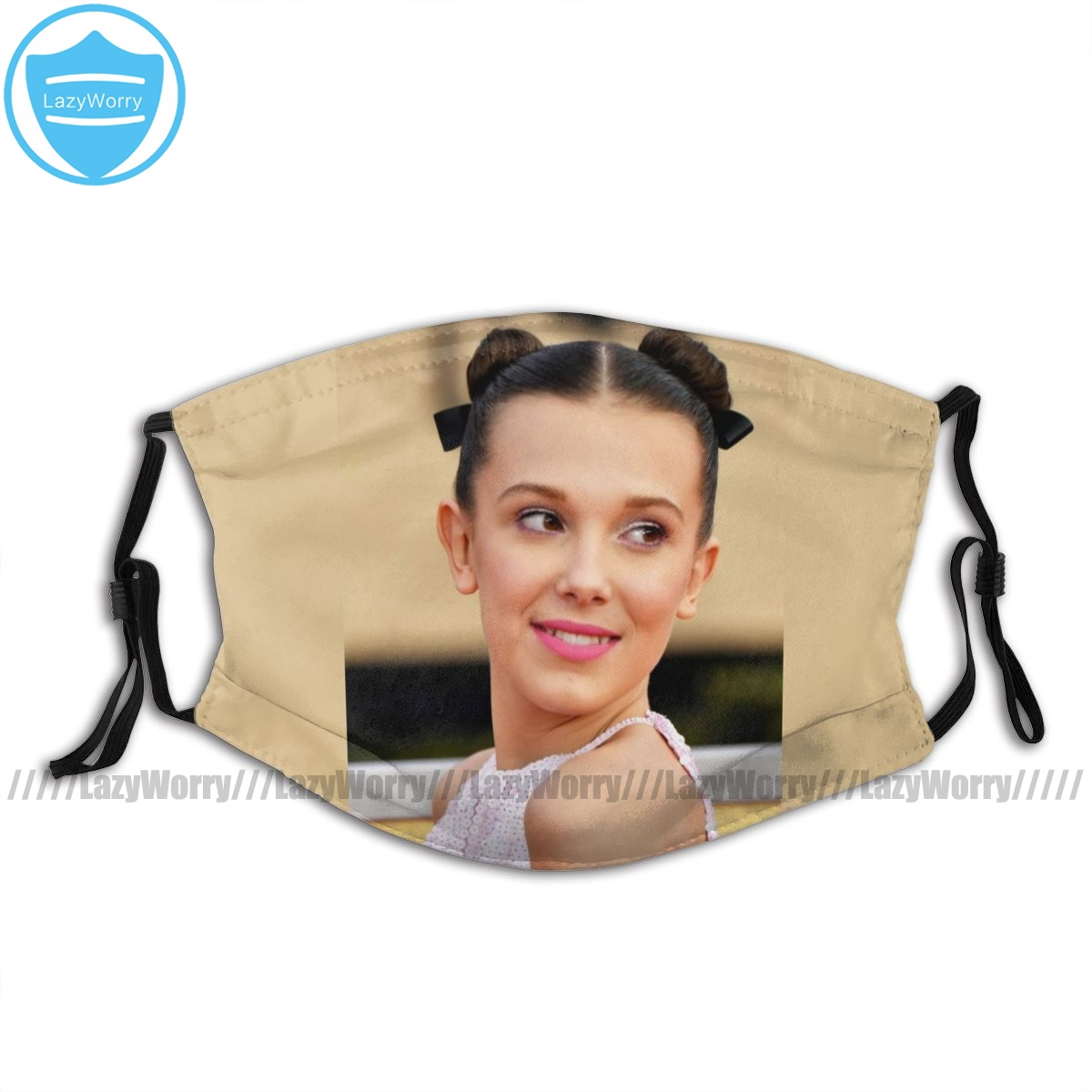 Millie Bobby Brown Mouth Face Mask Millie Bobby Brown Facial Mask Lovely Fashion with 2 Filters Adult Mask