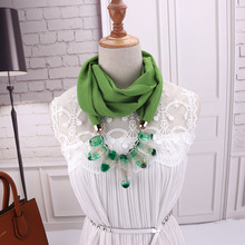 Spring bead pendant neck, European and multifunctional clothing pearl snow-spinning scarves necklace. scarf
