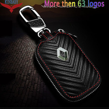 KUNBABY 10 יח\חבילה דגם 5Genunie עור רכב מפתח Case כיסוי מפתח בעל ארנק מפתח עבור כל מותגי רכב מפתח שרשרות משלוח חינם