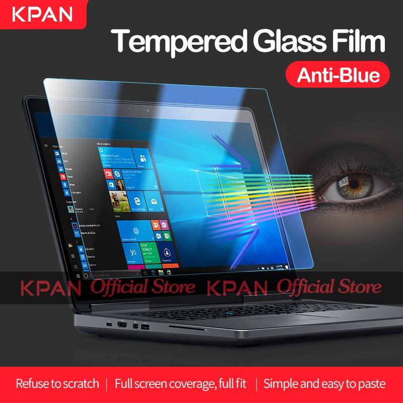 Kpan anti-luz azul universal portátil protetor de tela 12 13 14 15 17 polegada filme de vidro temperado para dell hp xiaomi lenovo