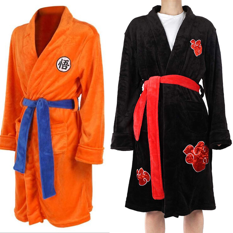 Anime Dragon Ball Cosplay Bathrobe Winter Men Women Kimono Bath Robe Son Goku Cosplay Costumes Dressing Gown Cloak