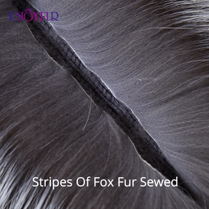 Image 5 - ENJOYFUR women winter fur hat genuine fox fur hats knitted silver fox fur caps female russian bomer caps