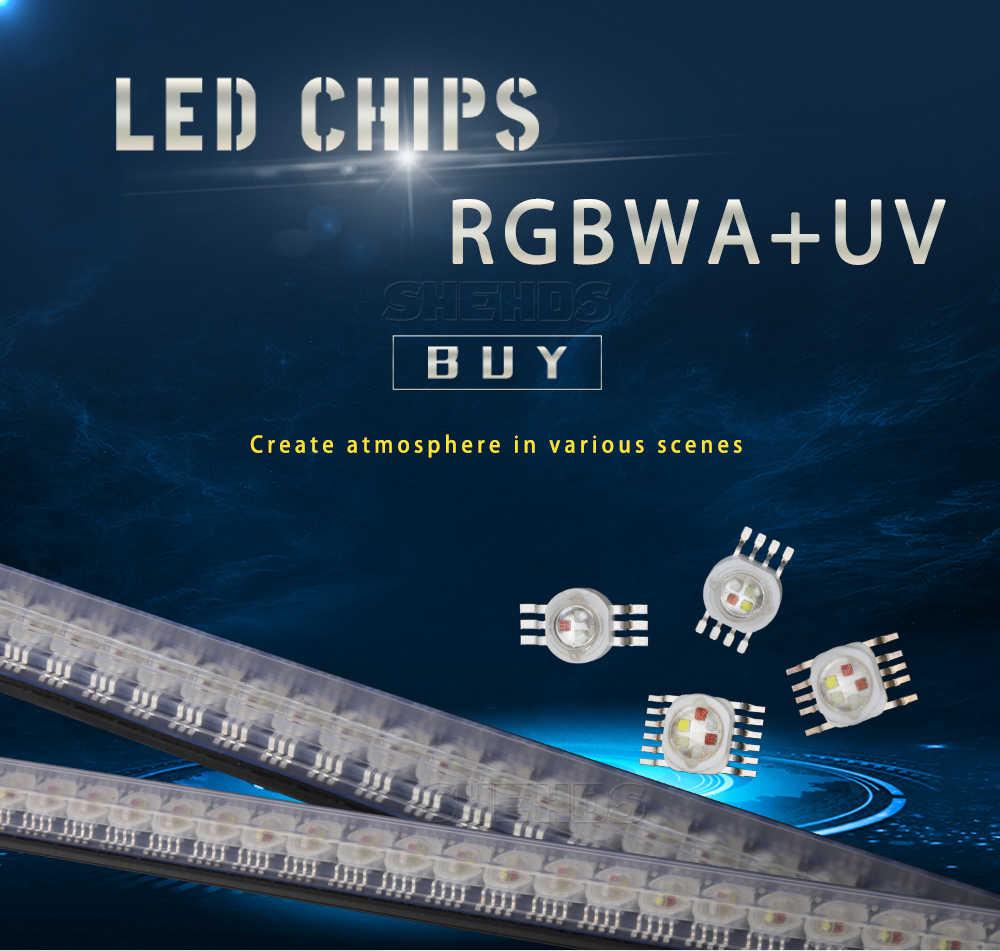 Led rgbwa 5in1 para led rgbwa iluminação led chips vermelho/verde/bule/branco/abmer transporte rápido shehds